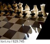 Купить «Шахматные фигуры в луче света», фото № 829745, снято 10 ноября 2005 г. (c) Irina Opachevsky / Фотобанк Лори