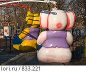 Детские карусели. Стоковое фото, фотограф Николай Коржов / Фотобанк Лори