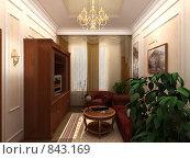 Купить «Интерьер в классическом стиле», иллюстрация № 843169 (c) Наталия Печёрских / Фотобанк Лори