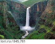 Водопад Maletsunyane  в Лесото. Стоковое фото, фотограф Leksele / Фотобанк Лори