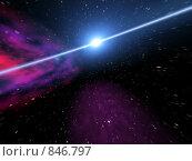 Купить «Мистический свет в космосе», иллюстрация № 846797 (c) ElenArt / Фотобанк Лори