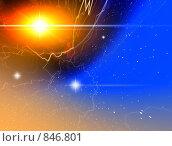 Купить «Мистический свет в космосе», иллюстрация № 846801 (c) ElenArt / Фотобанк Лори