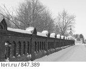 Купить «Коломна, Мемориальный парк, фрагмент ограды», фото № 847389, снято 22 февраля 2009 г. (c) Валерий Лисейкин / Фотобанк Лори