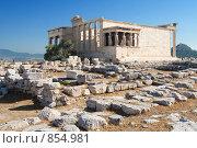 Купить «Храм Афины в Акрополе, Греция», фото № 854981, снято 28 августа 2008 г. (c) Максим Иванов / Фотобанк Лори