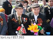 Купить «Ветераны. День Победы», фото № 857993, снято 9 мая 2009 г. (c) Евгений Батраков / Фотобанк Лори