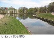 Купить «Санкт-Петербург. Таврический сад, пруд, дворец», фото № 858805, снято 5 мая 2009 г. (c) Морковкин Терентий / Фотобанк Лори