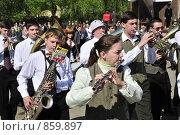 Купить «Школьный духовой оркестр», фото № 859897, снято 9 мая 2009 г. (c) Ульянов Александр Михайлович / Фотобанк Лори