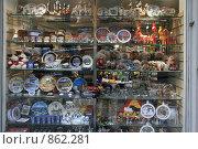 Купить «Городской пейзаж. Витрина сувенирного магазина. (г. Стокгольм. Швеция)», фото № 862281, снято 15 марта 2009 г. (c) Александр Секретарев / Фотобанк Лори