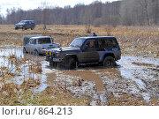 Купить «Внедорожники в болоте», фото № 864213, снято 25 апреля 2009 г. (c) Андрияшкин Александр / Фотобанк Лори
