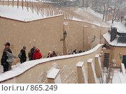 Купить «Пражский град. Лестница. Зима, снегопад.», фото № 865249, снято 5 января 2009 г. (c) Лошкарев Антон / Фотобанк Лори