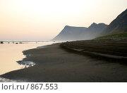 Купить «Вечер на песчаном побережье южного Сахалина», фото № 867553, снято 1 января 2006 г. (c) RedTC / Фотобанк Лори