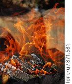 Танцующий огонь. Мангал. Стоковое фото, фотограф Елена Реднева / Фотобанк Лори