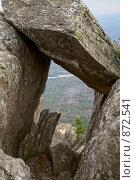 Купить «Проход из каменных глыб. Хребет Таганай», фото № 872541, снято 10 мая 2009 г. (c) Андрей Брусов / Фотобанк Лори