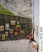 Таллинский художник (2008 год). Редакционное фото, фотограф Андрей Григорьев / Фотобанк Лори