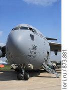 Купить «С-17 Глоубмастер военно-транспорный самолет США», эксклюзивное фото № 873881, снято 25 августа 2007 г. (c) Журавлев Андрей / Фотобанк Лори