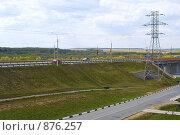 Купить «Мост через реку Моча на Варшавском шоссе в городе Подольск», фото № 876257, снято 9 мая 2009 г. (c) Цветков Виталий / Фотобанк Лори