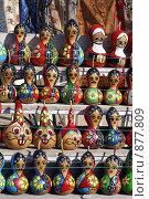 Купить «Деревянный куклы в Турции», фото № 877809, снято 12 января 2009 г. (c) Валерий Шанин / Фотобанк Лори