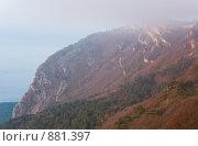 Рассвет, вид с горы Ай-Петри, Крым, Украина (2009 год). Стоковое фото, фотограф Юрий Брыкайло / Фотобанк Лори