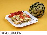 Купить «Овощная лазанья с артишоком», фото № 882669, снято 18 мая 2009 г. (c) Анна Мегеря / Фотобанк Лори