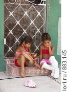 Кубинские девочки (2008 год). Редакционное фото, фотограф Калинина Алиса / Фотобанк Лори