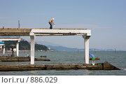 Купить «Подготовка пляжа к курортному сезону. Сочи», фото № 886029, снято 13 мая 2009 г. (c) Наталья Чуб / Фотобанк Лори