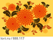 Купить «Иллюстрация, цветы в векторном стиле», иллюстрация № 888117 (c) Александр Черезов / Фотобанк Лори