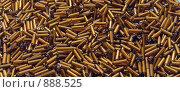 Купить «Россыпь коричневого бисера цилиндрической формы», фото № 888525, снято 25 марта 2009 г. (c) Кекяляйнен Андрей / Фотобанк Лори