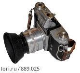 Старый пленочный фотоаппарат  Practica (2009 год). Редакционное фото, фотограф Pukhov K / Фотобанк Лори