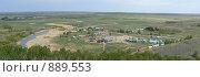 Купить «Аркаим панорама», фото № 889553, снято 27 мая 2009 г. (c) Глеб Тропин / Фотобанк Лори