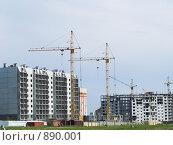 Купить «Строительство жилья», фото № 890001, снято 27 мая 2009 г. (c) Andrey M / Фотобанк Лори