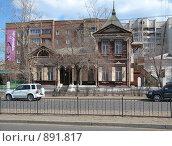 Купить «Деревянное здание город Чита конец 19 века», фото № 891817, снято 21 апреля 2008 г. (c) Геннадий Соловьев / Фотобанк Лори
