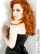Купить «Рыжеволосая красавица», фото № 892005, снято 27 февраля 2009 г. (c) Вероника Галкина / Фотобанк Лори