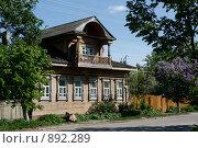 Купить «Деревянный дом построен в начале 20 века г. Йошкар-Ола», фото № 892289, снято 27 мая 2009 г. (c) Татьяна Лепилова / Фотобанк Лори