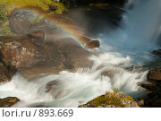 Купить «Радуга над водой», фото № 893669, снято 17 августа 2008 г. (c) Роман Мухин / Фотобанк Лори