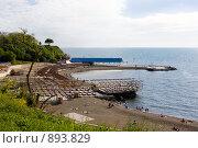 Купить «Курорт Анапа, городской пляж», фото № 893829, снято 14 мая 2009 г. (c) Наталья Чуб / Фотобанк Лори