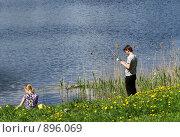 На рыбалке (2009 год). Редакционное фото, фотограф St.Tatyana / Фотобанк Лори