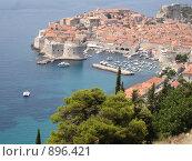 Панорама Дубровника. Хорватия. Стоковое фото, фотограф Евгения Кускова / Фотобанк Лори