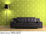 Интерьер с диваном и торшером, иллюстрация № 905837 (c) Hemul / Фотобанк Лори