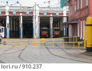 Купить «Трамвайное депо им. Апакова. Трамваи на отдыхе», фото № 910237, снято 22 мая 2009 г. (c) urchin / Фотобанк Лори