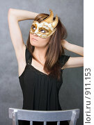 Купить «Девушка в Венецианской  маске», фото № 911153, снято 19 августа 2018 г. (c) ElenArt / Фотобанк Лори
