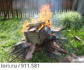 Купить «Костер», фото № 911581, снято 7 июня 2009 г. (c) Плотников Михаил / Фотобанк Лори