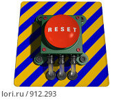 Купить «Кнопка RESET», иллюстрация № 912293 (c) Геннадий Соловьев / Фотобанк Лори