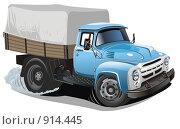 Купить «Мультяшный грузовик», иллюстрация № 914445 (c) Александр Володин / Фотобанк Лори