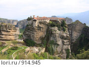 Купить «Греция, Метеоры», эксклюзивное фото № 914945, снято 24 апреля 2009 г. (c) Дмитрий Неумоин / Фотобанк Лори