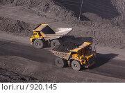 Купить «БелАЗы в угольном карьере», фото № 920145, снято 9 июня 2009 г. (c) Максим Попурий / Фотобанк Лори