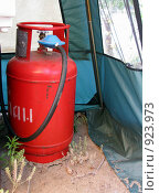 Купить «Баллон с бытовым газом», фото № 923973, снято 14 июня 2009 г. (c) Светлана Кириллова / Фотобанк Лори