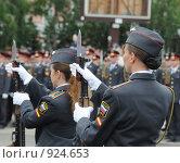 Купить «Упражнение с оружием», эксклюзивное фото № 924653, снято 12 июня 2009 г. (c) Free Wind / Фотобанк Лори