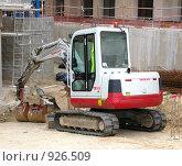 Купить «Экскаватор на стройке», фото № 926509, снято 11 июня 2008 г. (c) Юлия Подгорная / Фотобанк Лори