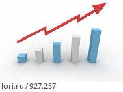 Купить «Возрастающий график с стрелкой», иллюстрация № 927257 (c) Ярослав Крючка / Фотобанк Лори
