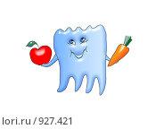 Купить «Здоровое питание — здоровые зубы», иллюстрация № 927421 (c) Анна Боровикова / Фотобанк Лори